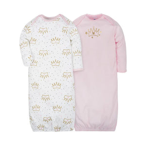 Gerber Girls 2-pk Sleeping Gowns, Princess