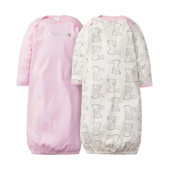 Gerber Girls 2-pk Sleeping Gowns, Bunny
