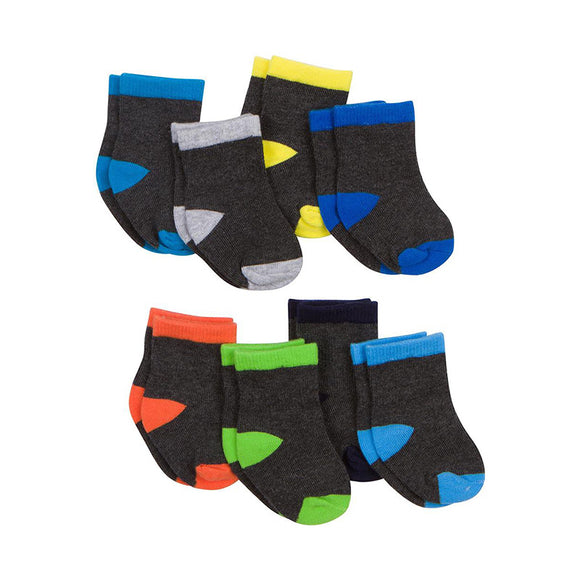 Gerber Boys 8-pk Wiggle-Proof Socks set, Multicolor