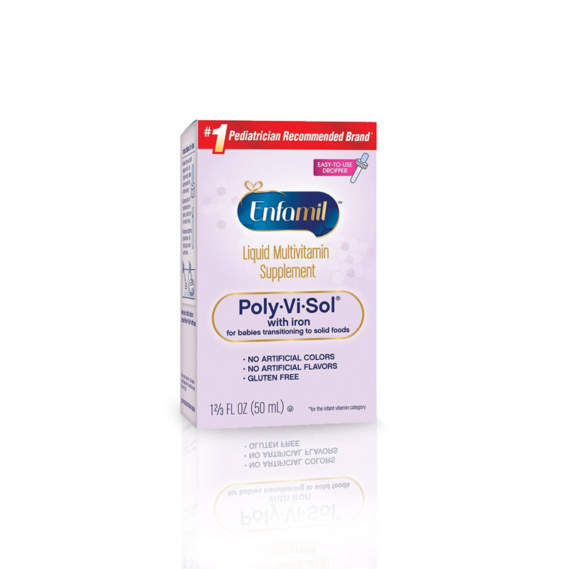 Enfamil Poly-Vi-Sol Multivitamin Supplement Drops with Iron, 50 mL