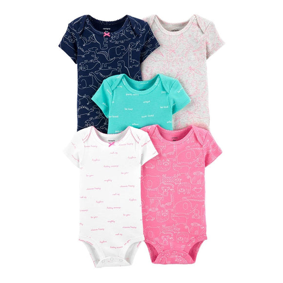 Carter's Girls 5-pk Bodysuit set, Animals