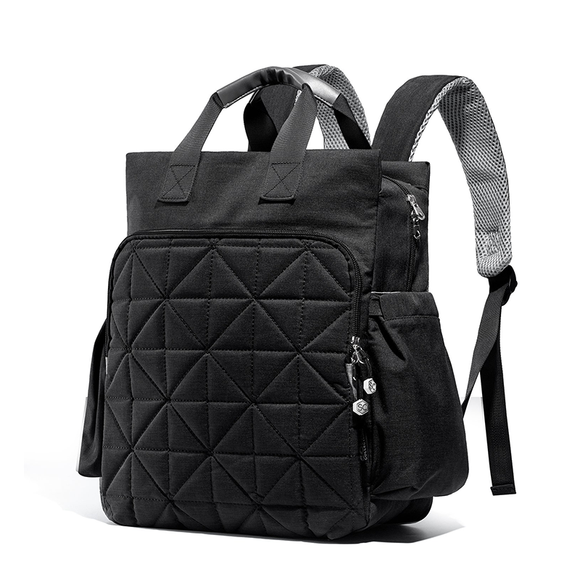 SoHo Collections Kenneth Backpack Diaper Bag, Black