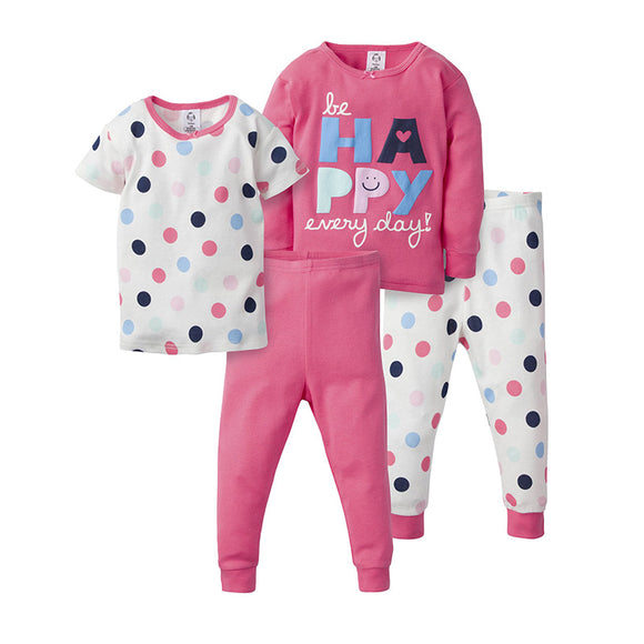Gerber Girls 4-pc Pajama set, Be Happy