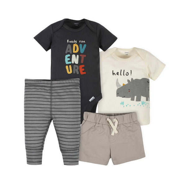 Gerber Boys 4-pc Casual / Active Set, Rhino