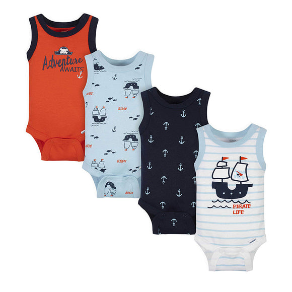 Gerber Boys 4-pk Onesies set, Pirate
