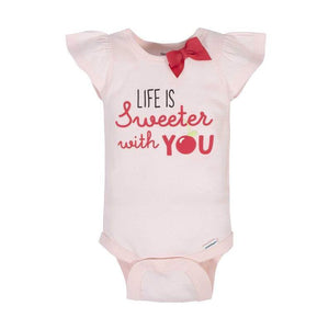 Gerber Girls 4-pk Onesies set, Sweeter With You
