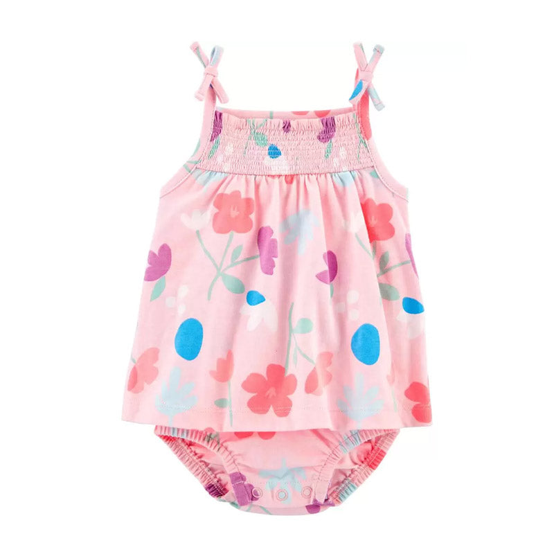 Carter's Girls Floral Sunsuit, Pink