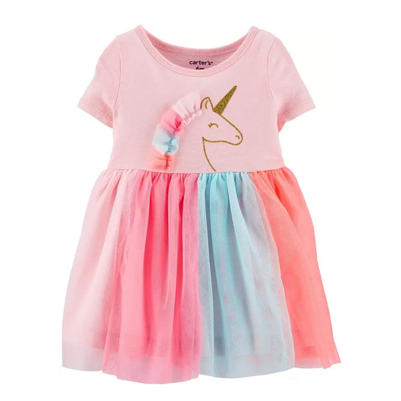 Carter's Girls Glitter Unicorn Tutu Jersey Dress