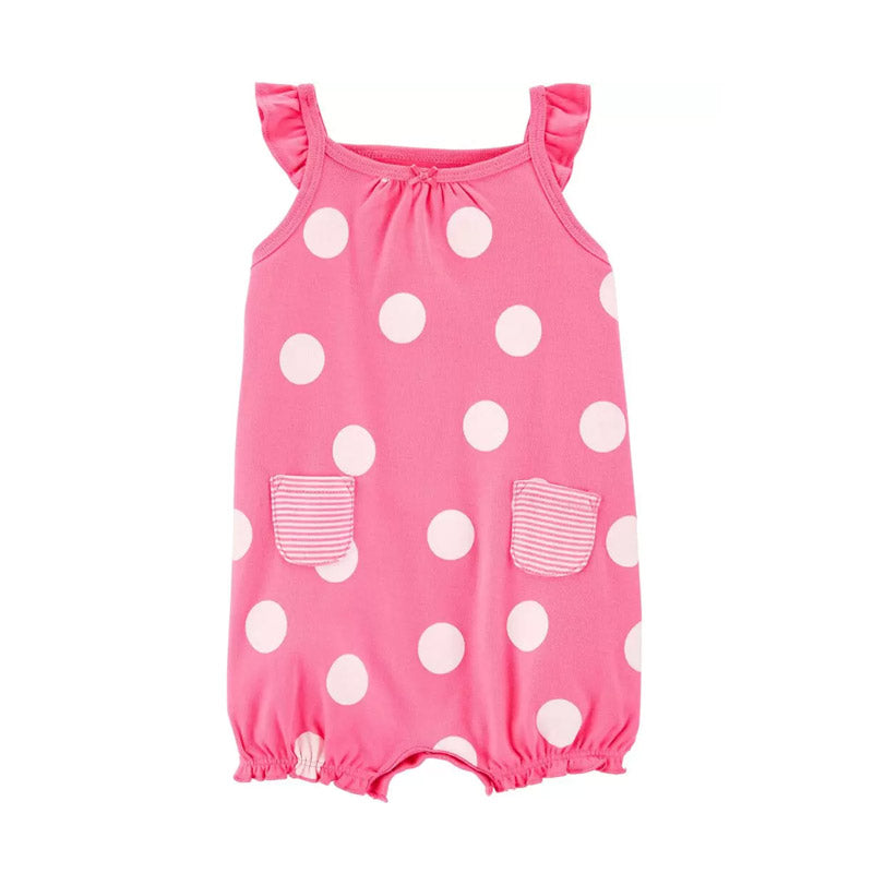Carter's Girls Cotton Romper, Crabby