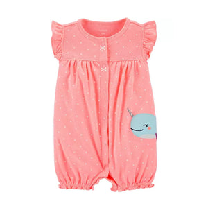 Carter's Girls Snap-Up Romper, Narwhal