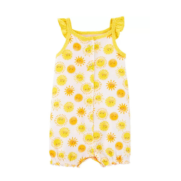 Carter's Girls Snap-Up Romper, Sunshine