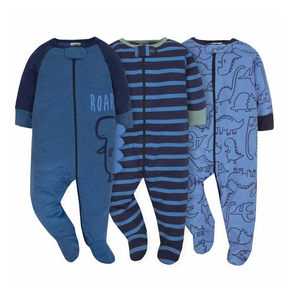 Gerber Boys 3-pk Sleep & Play set, Dino