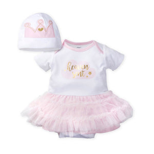 Gerber Girls 2-pc Skirted Onesie and Cap Set, Heaven Sent