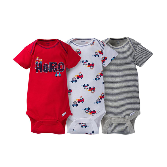 Gerber Boys 3-pk Onesies set, Hero
