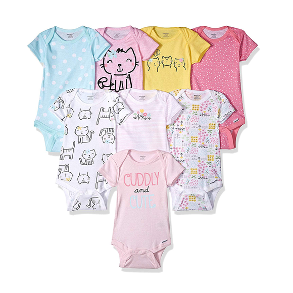 Gerber Girls 8-pk Onesies set, Kitty