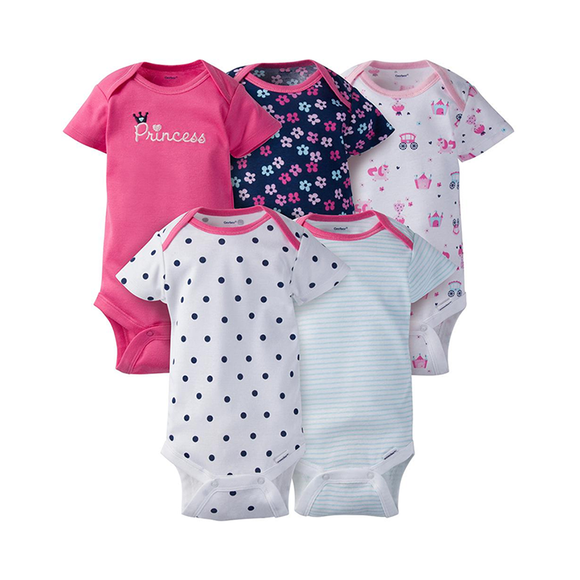 Gerber Girls 5-pk  Onesies set, Princess