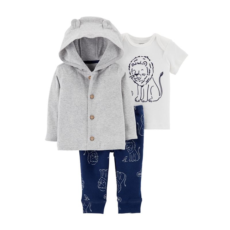 Carter's Boys 3-pc Hooded Jacket, T-shirt & Long Pant set, Lion