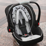 Travel Bug 2-in-1 Head Support for Car Seats, Strollers & Bouncers, Grey/White/Black