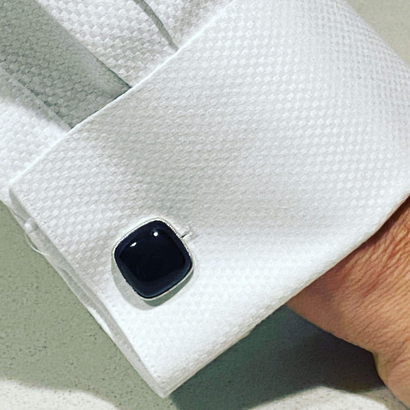 BLACK ONYX CUSHION CUFFLINKS