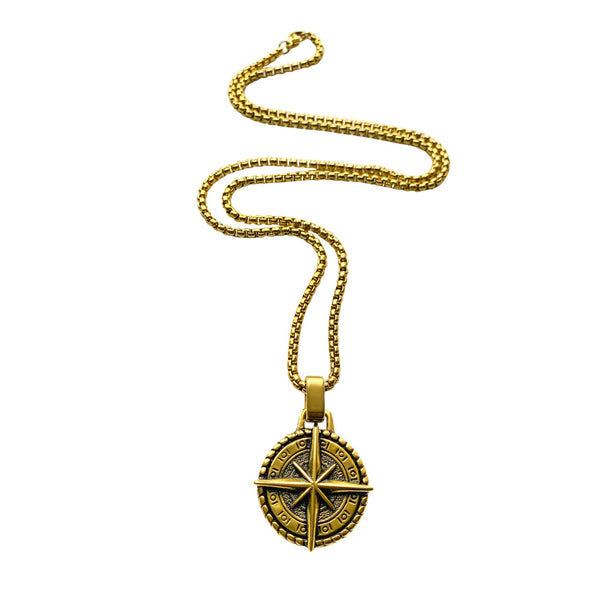 COMPASS PENDANT – GOLD