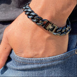 Black Miami Cuban Bracelet