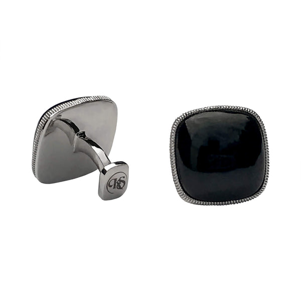 BLACK ONXY CUSHION CUFFLINKS