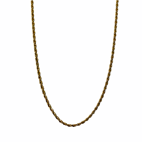 ROPE CHAIN 3MM (GOLD OR SILVER)