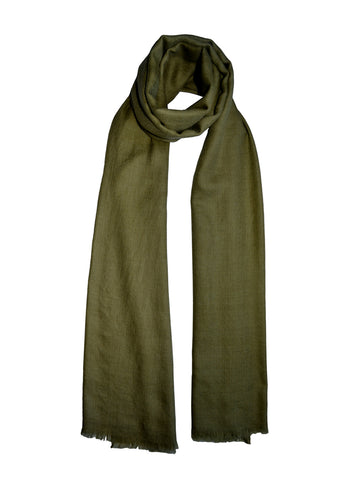 Cashmere Scarf : Moss Green