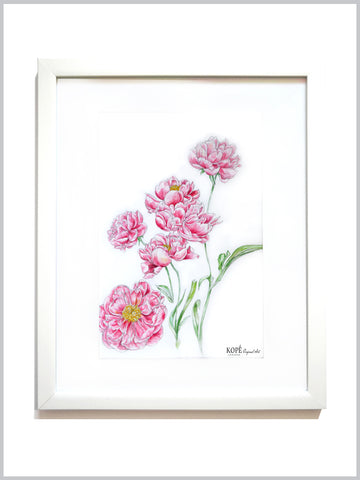 Pink Peonies : Original Art