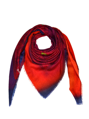Rose Mosaic Cashmere Scarf