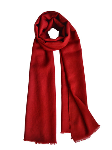 Cashmere Scarf : Ruby Red