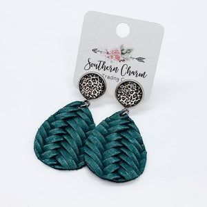 Braided Leather Dangles