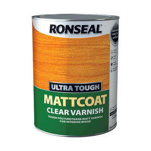 Ronseal Ultra Tough Varnish 5L Matt Coat