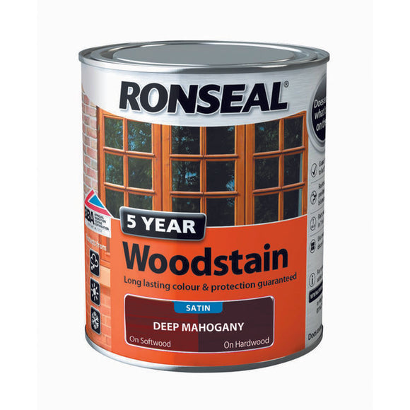 5 Year Woodstain 750ml Deep Mahogany