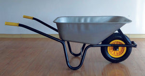 90L Galvanised Builders Wheelbarrow