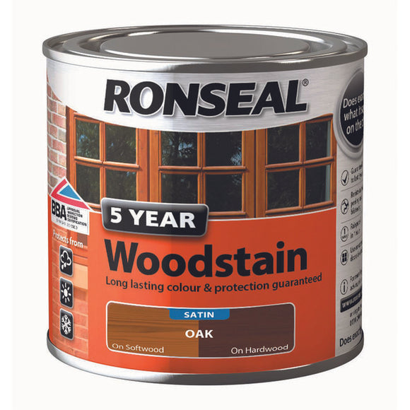 5 Year Woodstain 250ml Oak