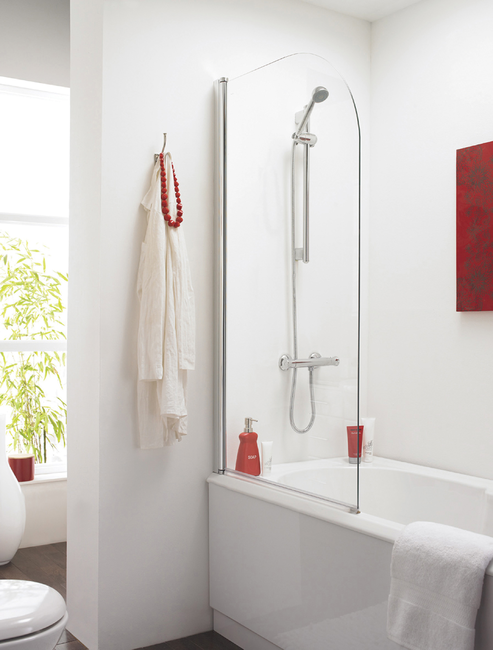 Nss3 Prima  Bath Screen 1400X800mm  - Curved (6mm)