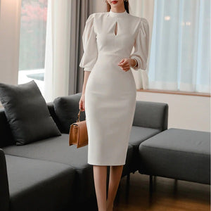 Leandra White Dress
