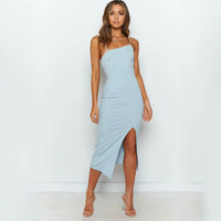 Elegant Slit Bodycon Dress
