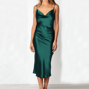 Elegant Satin Party Dress