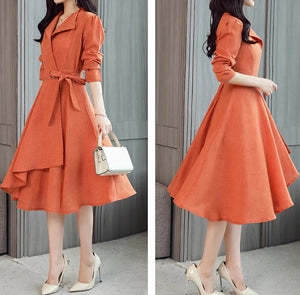 Vintage Asymmetrical Midi Dress