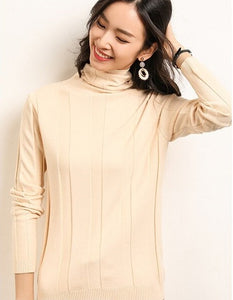Elegant Turtleneck Knitted Sweater