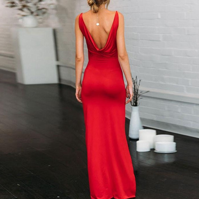 Elegant Spaghetti Strap Dress