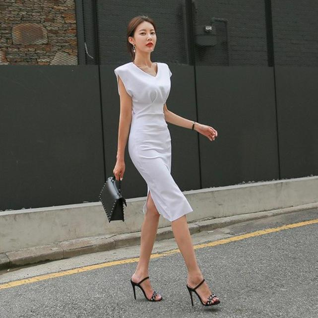 Casual Asymmetric Dress
