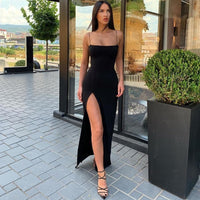 Spaghetti Strap Split Dress