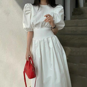 Elegant Casual Puff Dress