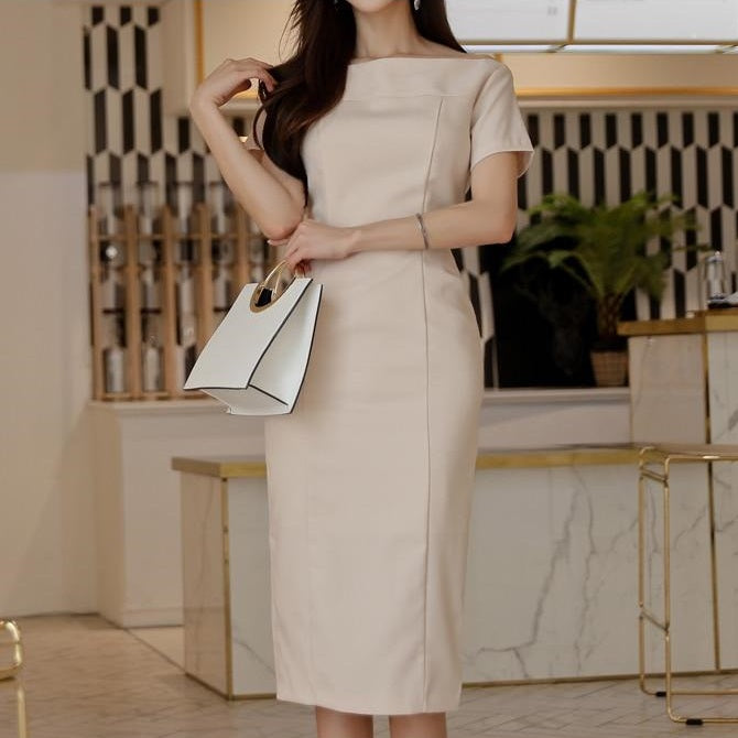 Elegant Apricot Casual Dress