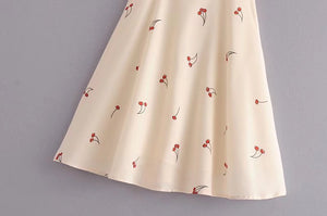 Vintage Cherry Print Beach Dress
