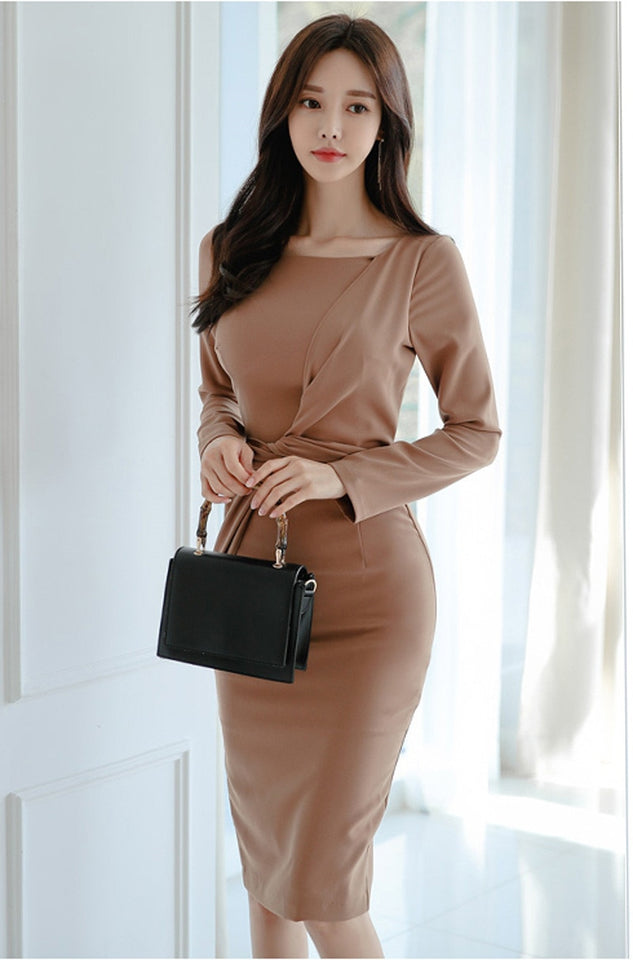 Elegant Ruched Casual Dress