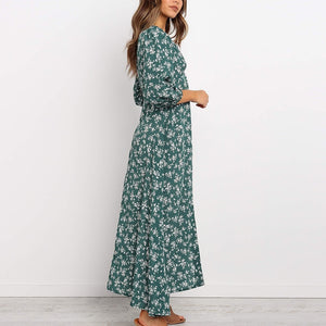 Elegant Floral Long Dress